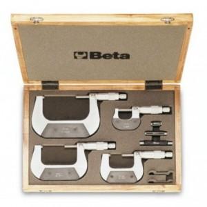 Zestaw mikrometrów zewnętrznych 0-100mm 4 sztuki w pudełku Beta 1658/C4