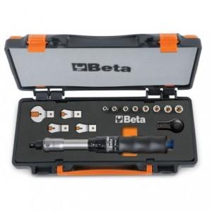"""Pokrętło dynamometryczne """"łamane"""" 604b/5 z akcesoriami 14 elementów w pudełku metalowym..."""