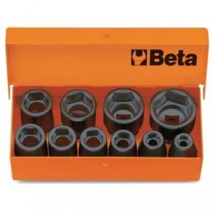 Komplet nasadek udarowych sześciokątnych 710 7-22mm 10 sztuk w metalowym pudełku Beta...
