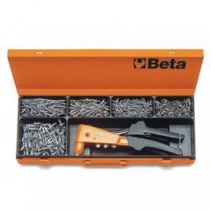 Nitownica boczna 1741b z zestawem 700 nitów 3-4,8mm w pudełku Beta 1741B/C5