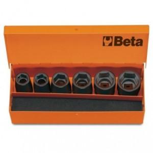 Komplet nasadek udarowych sześciokątnych 720 13-24mm 6 sztuk w kasecie metalowej Beta...