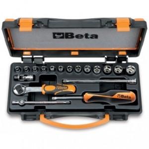 Zestaw nasadek sześciokątnych 900 z akcesoriami 4-14mm 18 elementów w pudełku metalowym...
