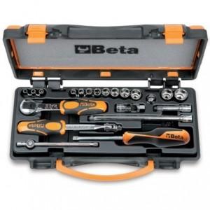 Zestaw nasadek sześciokątnych 900 z akcesoriami 4-14mm 21 elementów w pudełku metalowym...