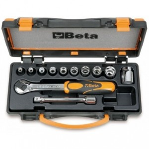 Zestaw nasadek 910a z akcesoriami 6-19mm 12 elementów w pudełku metalowym Beta 910A/C10