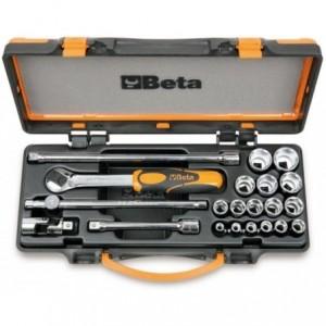 Zestaw nasadek 910a z akcesoriami 6-22mm 21 elementów w pudełku metalowym Beta 910A/C16