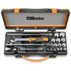 Zestaw nasadek 910b z akcesoriami 6-22mm 21 elementów w pudełku metalowym Beta 910B/C16