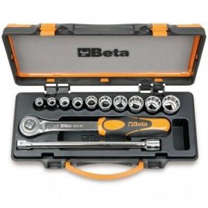 """Zestaw nasadek 920as z akcesoriami 3/8""""-15/16"""" 12 elementów w pudełku metalowym Beta..."""