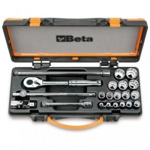 """Zestaw nasadek 920as z akcesoriami 3/8""""-1,1/4"""" 21 elementów w pudełku metalowym Beta..."""