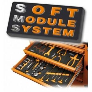Wkład profilowany miękki do zestawu narzędzi 2450/m40 pusty Beta 2451/MV40