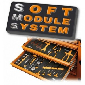 Wkład profilowany miękki do zestawu narzędzi 2450/m75 pusty Beta 2451/MV75