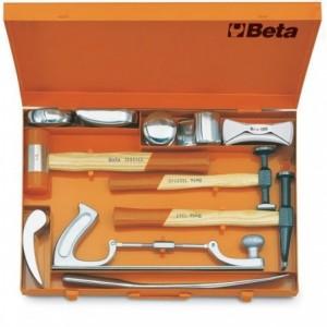 Zestaw narzędzi blacharskich 11 elementów w pudełku metalowym Beta 1369/C11X