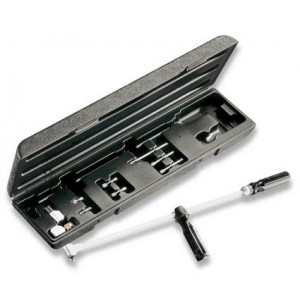 Wkrętak kątowy długi z zestawem końcówek wkrętakowych i akcesoriów 10 elementów w...