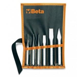 Zestaw ślusarski wybijaki + punktak + przecinaki 6 sztuk w pokrowcu Beta 38/B6