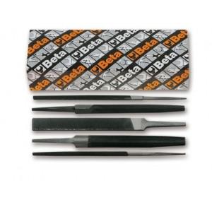 Komplet pilników półgładzików bez rękojeści 1718a6 q-t-p-m-r 5 sztuk w kartonie Beta...