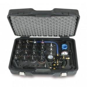 Przyrząd do kontroli szczelności i napełniania układu chłodzenia samochodów w pudełku...