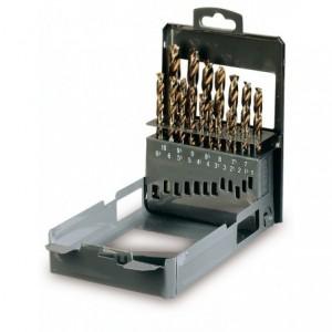 Komplet wierteł cylindrycznych krótkiech szlifowanych 416 1-10x0,5 mm 19 sztuk w...