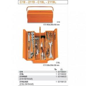 Skrzynka narzędziowa trzyczęściowa z blachy stalowej lakierowana pomarańczowa Beta...