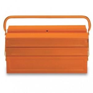 Skrzynka narzędziowa pięcioczęściowa długa z blachy stalowej lakierowana pomarańczowa...