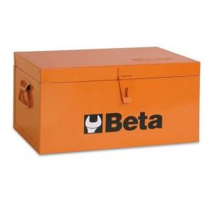 Skrzynia narzędziowa z blachy stalowej wyłożona drewnem lakierowana pomarańczowa Beta...