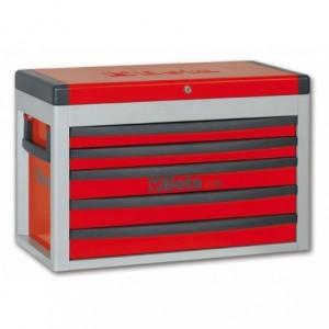Skrzynia narzędziowa z pięcioma szufladami z blachy stalowej lakierowana szara pusta...