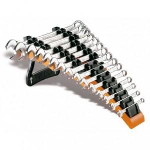 Komplet kluczy płasko-oczkowych 42 6-24 mm 15 sztuk w stojaku z tworzywa sztucznego...