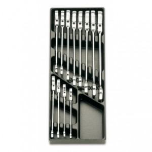 Wkład profilowany twardy z zestawem 12 kluczy 142sn 8-19mm Beta 2424/T46