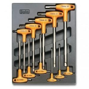 Wkład profilowany twardy z zestawem 11 kluczy 96t 2-10mm Beta 2424/T50