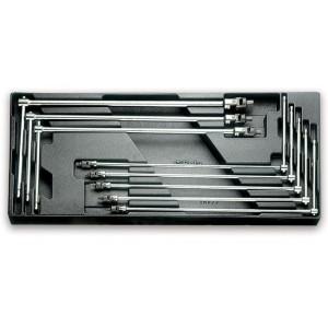 Wkład profilowany twardy z zestawem 8 kluczy 953 3-10mm Beta 2424/T65