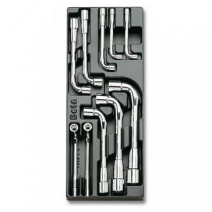 Wkład profilowany twardy z zestawem 10 kluczy 933 6-19mm Beta 2424/T77