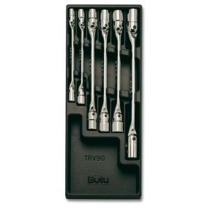Wkład profilowany twardy z zestawem 6 kluczy 80 8-19mm Beta 2424/T79