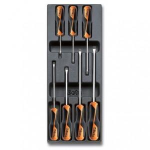 Wkład profilowany twardy z zestawem 7 wkrętaków Beta grip 1260 2,5x50-6,5x150mm Beta...