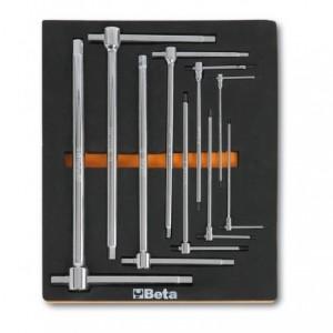 Wkład profilowany miękki z zestawem 9 kluczy 951 2,5-14mmmm Beta 2450/M69
