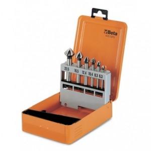 Pudełko metalowe do kompletu pogłębiaczy stożkowych 426/sp6 puste Beta 426/SPV