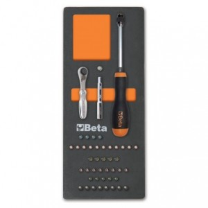 Wkład profilowany miękki do zestawu narzędzi 2450/m85 pusty Beta 2451/MV85