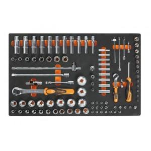 Wkład profilowany miękki do zestawu narzędzi 2450/m100 pusty Beta 2451/MV100