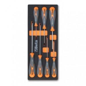 Wkład profilowany miękki do zestawu narzędzi 2450/m180 pusty Beta 2451/MV180