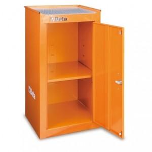 Szafka narzędziowa boczna z wewnętrzną półką z blachy stalowej lakierowana pomarańczowa...