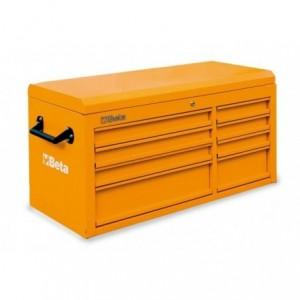 Skrzynia narzędziowa z ośmioma szufladami z blachy stalowej lakierowana pomarańczowa...