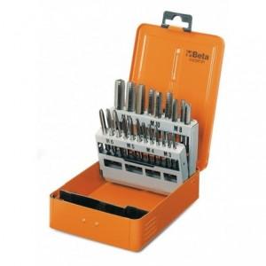 Komplet gwintowników ręcznych 431 hss gwint metryczny m3-m12mm 21 sztuk w metalowym...