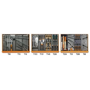 Zestaw narzędzi we wkładach profilowanych twardych 98 narzędzi do użytku w przemyśle...