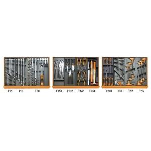 Zestaw 99 narzędzi we wkładach profilowanych twardych do obsługi pojazdów Beta 5904VG/2T