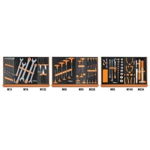 Zestaw 76 narzędzi we wkładach profilowanych miękkich do obsługi pojazdów Beta 5904VG/1M