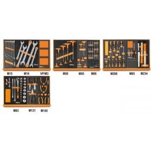 Zestaw 170 narzędzi we wkładach profilowanych miękkich do obsługi pojazdów Beta 5904VG/2M