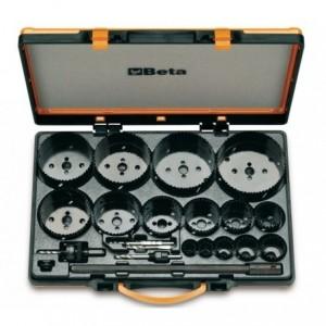 Zestaw pił otworowych 450 z akcesoriami 21 elementów 19-114mm w pudełku z tworzywa...