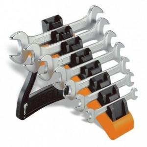 Komplet kluczy płaskich dwustronnych 55 6-19mm 7 sztuk w uchwycie z tworzywa sztucznego...