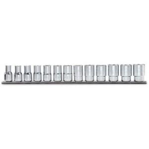 "Komplet nasadek 910as 1/4""-7/8"" 13 sztuk na szynie metalowej Beta 910AS/SB13"