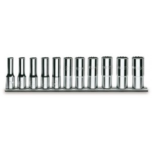 Komplet nasadek 920al 10-22mm 11 sztuk na szynie metalowej Beta 920AL/SB11