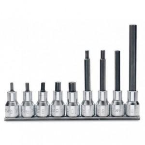 Komplet nasadek 920pe 4-10mm 9 sztuk na szynie metalowej Beta 920PE/SB9