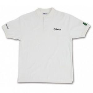 Koszulka polo bawełniana biała l Beta 095340013