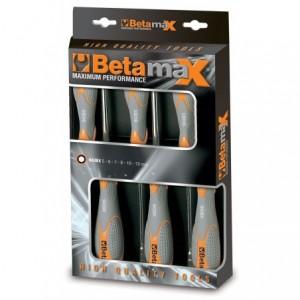 Komplet kluczy nasadowych z rękojeścią długich Betamax 5-13mm 6 sztuk w kartonie Beta...